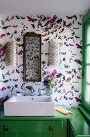 stylist and luxury bold wallpaper small bathroom bedroom ideas