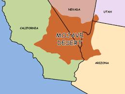 california map desert region mojave desert