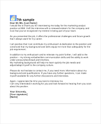 thank you letter examples interview 8 interview thank you letters free sample example format