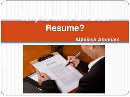 Write The Best Resume by Why To Write The Best Resume