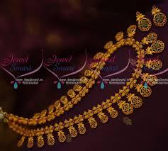nl11703 ruby emerald stylish haram fashion jewellery matte