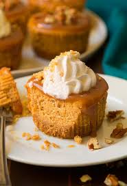 Thanksgiving Dinner Cupcakes Pumpkin Cheesecake Cupcakes With Salted Caramel Sauce Cooking Classy