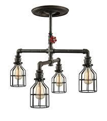 Steunk Light Fixtures Steunk Industrial Ceiling Light Industrial Pipe Light Steel