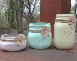 rustic blue mason jar bathroom set mason jar desk set mason
