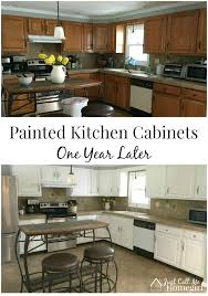painted kitchen furniture painted kitchen cabinets one year later just call me homegirl