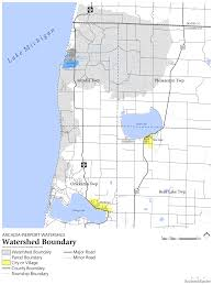 Map Of Michigan Lakes Arcadia Pierport Watershed Lakes To Land Regional Initiative