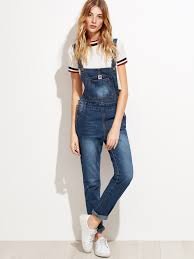 overall jumpsuit blue wash denim overall jumpsuit emmacloth fast