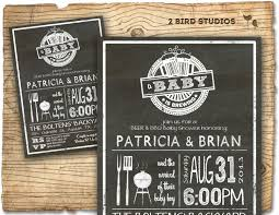 Couple S Shower Invitations Baby Shower Invitation Boy Baby Shower Bbq Barbecue
