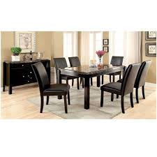 contemporary black marble top dining table