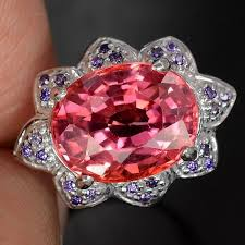 natural amethyst rings images A natural 6 9ct oval cut padparadscha sapphire purple amethyst jpg
