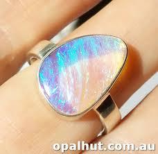 crystal opal rings images Yowah and australian opalised wood jpg