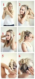 easy hairstyles for waitress s braided bun tutorial braided bun tutorials bun tutorials and
