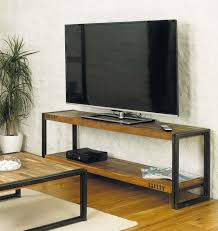 Tv Table Design Wood Industrial Tv Stand With Metal Legs And Reclaimed Wood Tv