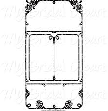 wedding invitation frame bridal clipart of a black and white wedding invitation frames by
