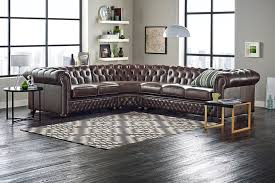 Small Leather Chesterfield Sofa Awesome Brown Leather Chesterfield Sofa Design Near Windows In The