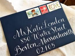 calligraphy envelope addressing in vigny style wedding envelopes