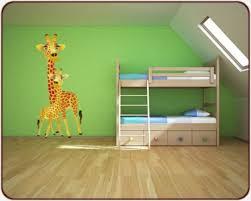 stickers girafe chambre bébé stickers chambre d enfants sticker girafes