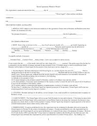 Rental House Lease Agreement Template Rental Agreement Free Rental Lease Agreement Form