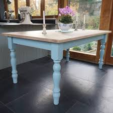 chilmark table with cottage chairs hand painted by rectory blue