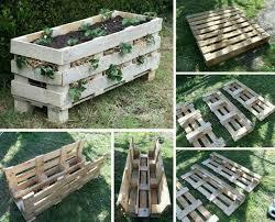 Wood Pallet Garden Ideas Diy Recycled Wooden Pallet Flower Planter Photograph Garden Ideas