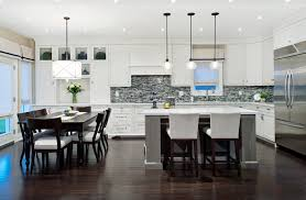 eat in kitchen islands circular light fixture kitchen transitional with kitchen island