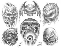 evil skull tattoo flash 32 best tattoo flash of skulls images on