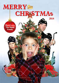 diy personalized home alone funny christmas card