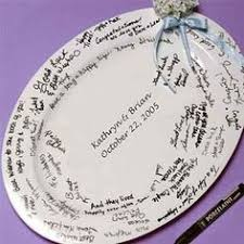 plate guest book alternative guest book option signed plate for the future
