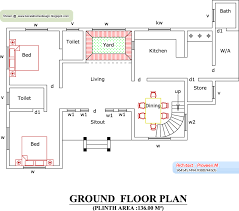 Floor Plan With Elevation by Home Plan And Elevation 2388 Sq Ft Kerala House Design Idea