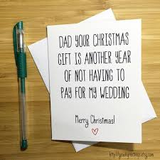 Christmas Card For Dad Funny Christmas Card Father Merry