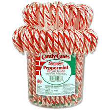 red and white peppermint candy canes spangler candy canes