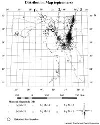 Seismic Risk Map Of The United States by Integrated Seismic Risk Map Of Egypt Seismological Research Letters