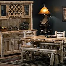 rustic dining furniture barnwood bar u0026 stools log dining room