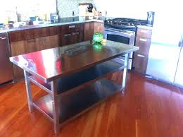 kitchen island with stainless top stainless steel kitchen island knutespub com