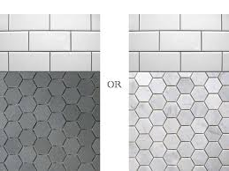 Grey Tile Bathroom by Black And White Hexagon Bathroom Tile Hexagon Tile Bathroom Floor