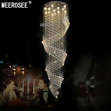 Best Crystal Chandelier Long Size Crystal Chandelier Light Fixture For Lobby Staircase