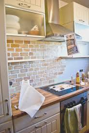 backsplash creative exposed brick backsplash kitchen nice home