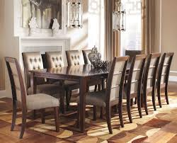 larimer piece formal dining set with leg extension table with