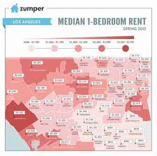 los angeles suburbs map map of cheapest and most expensive rents in los angeles thrillist
