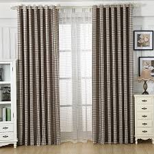 Grey Plaid Curtains 2015 New Grey Plaid Finished Luxury Modern Blackout Curtains For