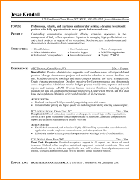 Resume For Receptionist Examples by 7 Medical Receptionist Resume Examples Format Of Acv