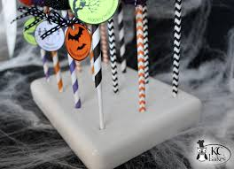 Halloween Cake Pop Stand by Free Printables Kc Bakes