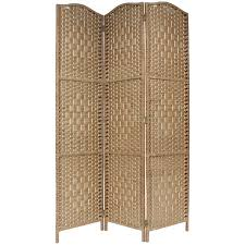 Wicker Room Divider Solid Weave Made Wicker Room Divider 3 Panel Room