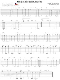 what a wonderful world easy guitar tablature chitarra