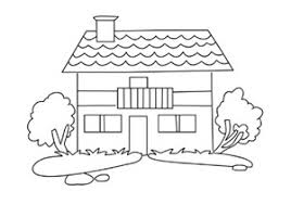 colorings home house coloring for kids