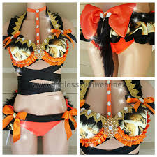carnival circus tiger costume rave wear theme wear dance