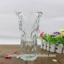 Wholesale Glass Flower Vases Wholesale Clear Crystal Glass Vase With Engraved Flower Design