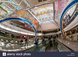 concourse b denver international airport denver colorado usa stock