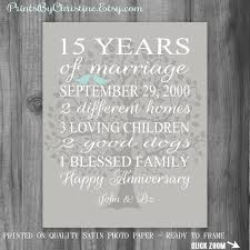 15 year anniversary gift for husband 15th anniversary gift anniversary gift 15 years