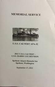 Memorial Booklet Updates Uss Calvert Apa 32 Attack Transport 1942 1966 Wwii